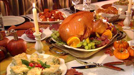 Thanksgiving dinner traditions in USA.