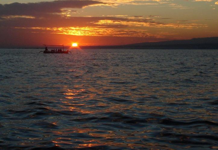 Sunrise in Bali, Indonesia