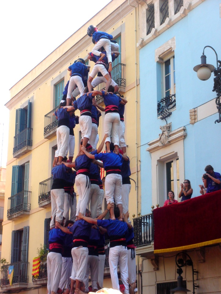 Festa de Gracia 2013, castellers at Vila de Gracia