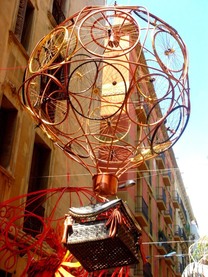Festa de Gracia 2013, bicycle balloon
