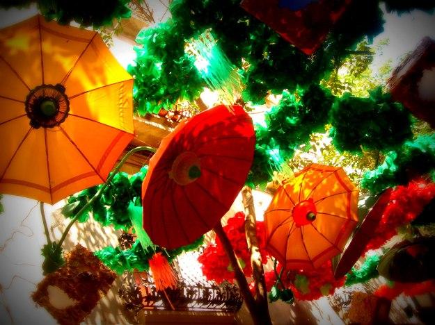Festa de Gracia 2013, umbrella decorations