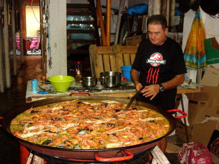 Festa de Gracia 2013, seafood paella