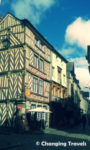 Rennes, France, old town